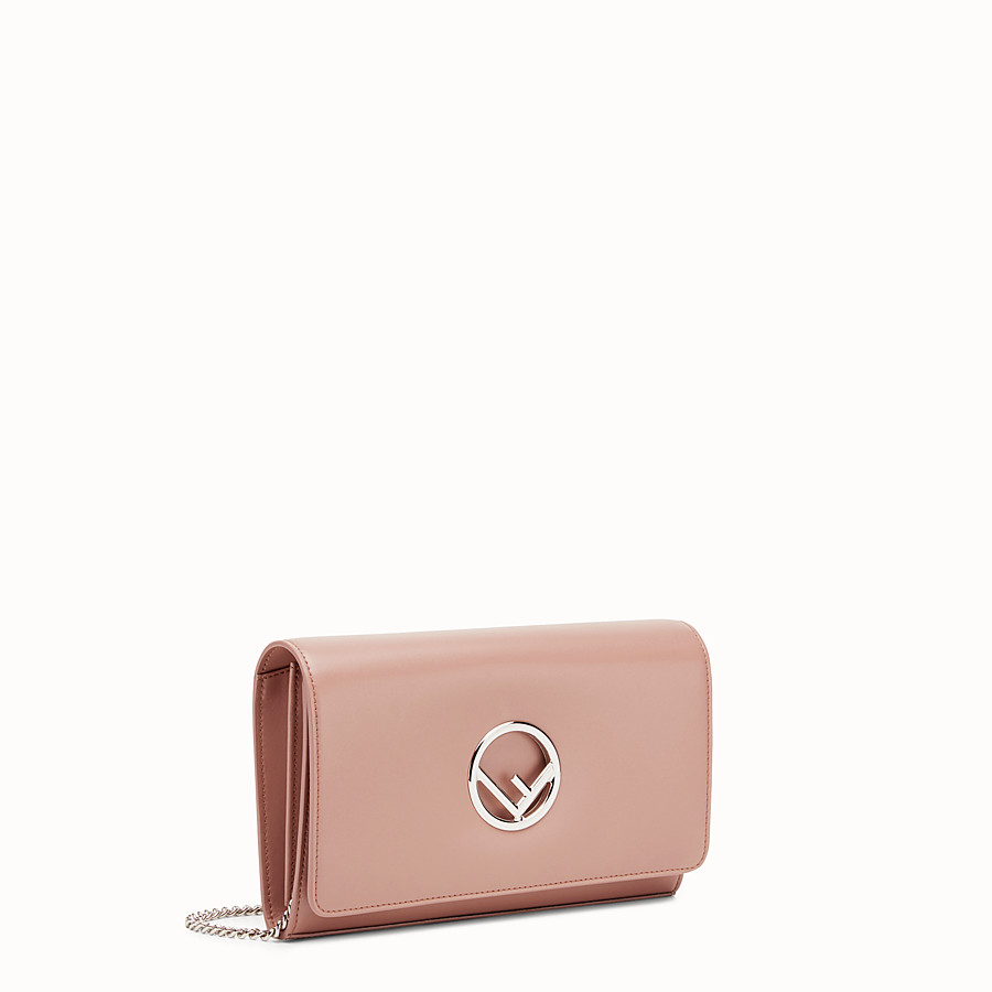 FENDI WALLET ON CHAIN - Mini-bag in pink leather - view 2 detail