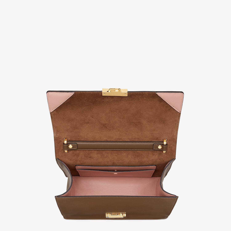 FENDI KAN U - Brown leather bag - view 5 detail