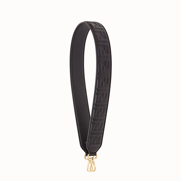 FENDI STRAP YOU - Black leather shoulder strap - view 1 small thumbnail