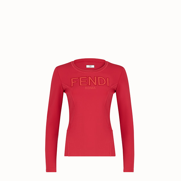 FENDI JUMPER - Red tech fabric top - view 1 small thumbnail