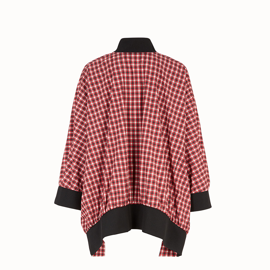 FENDI BOMBER-CAPE - Multicolour cotton cape - view 2 detail