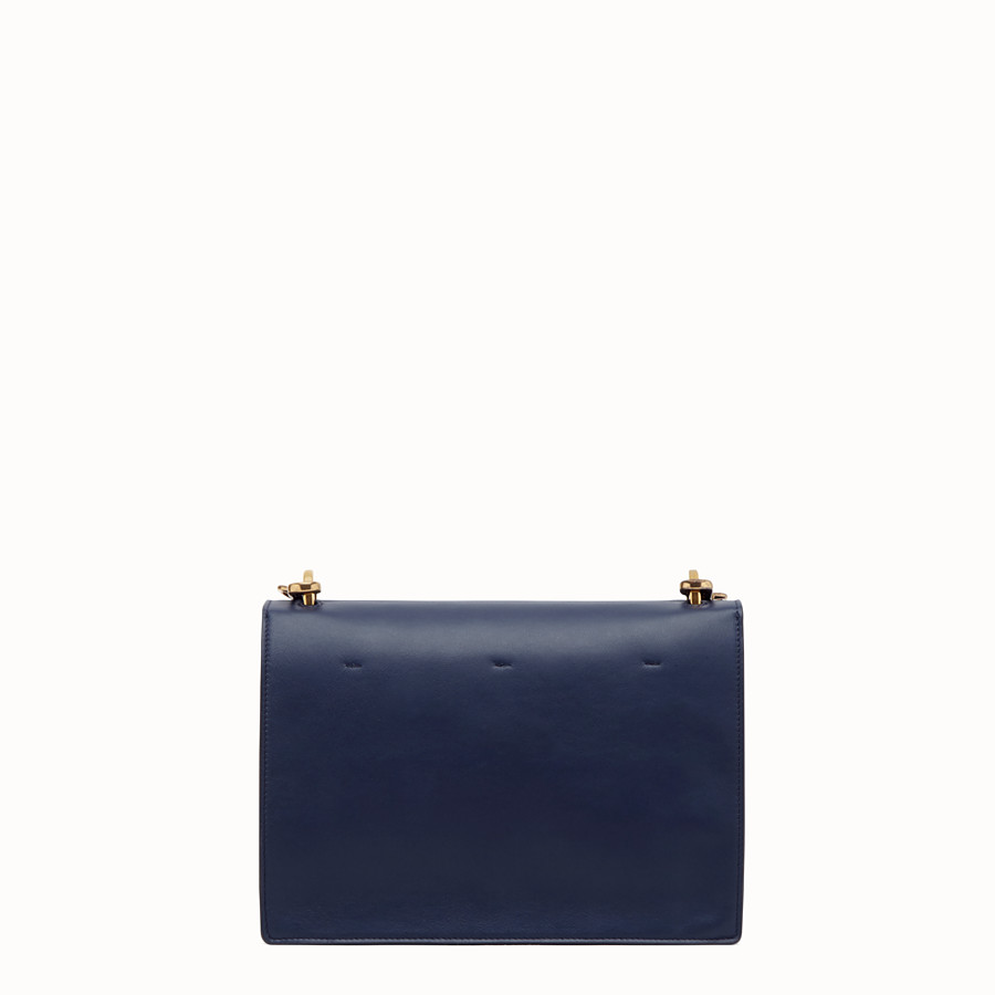 FENDI KAN U - Blue leather bag - view 4 detail