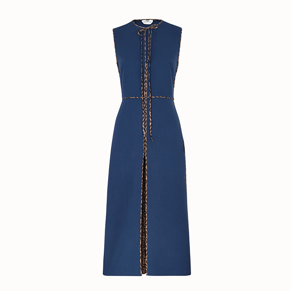 FENDI DRESS - Blue wool dress - view 1 small thumbnail