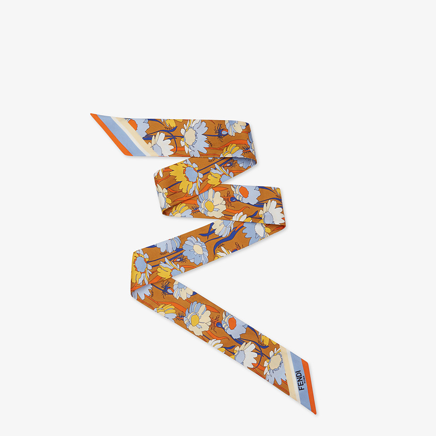 FENDI WRAPPY - Multicolour silk bandeau - view 1 detail