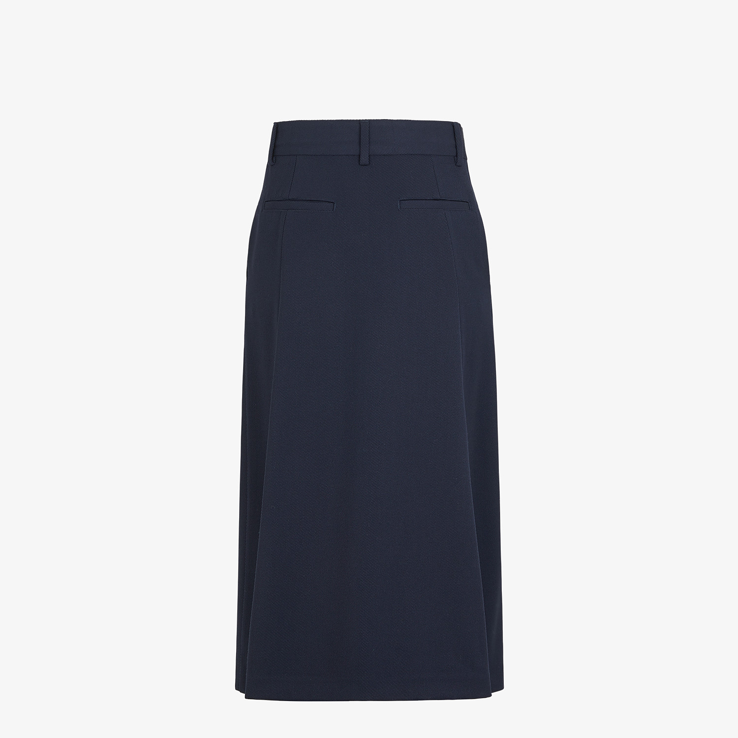 FENDI TROUSERS - Blue wool trouser skirt - view 2 detail