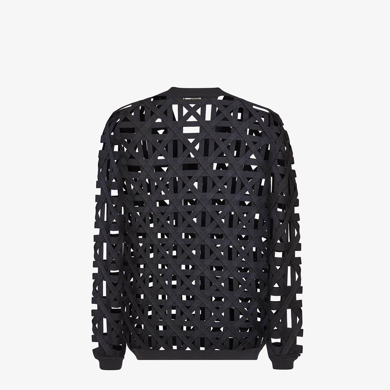 FENDI SWEATER - Black wool sweater - view 2 detail