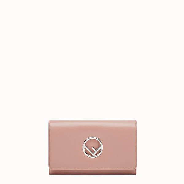 FENDI WALLET ON CHAIN - Mini-bag in pink leather - view 1 small thumbnail