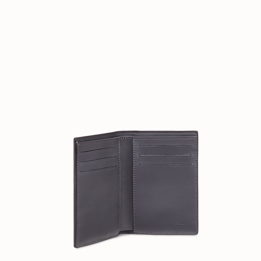 FENDI VERTICAL CARD HOLDER - Blue calfskin wallet - view 3 detail