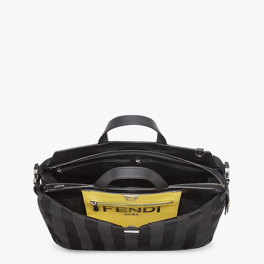 FENDI PEEKABOO ICONIC MEDIUM - Black nylon bag - view 5 detail