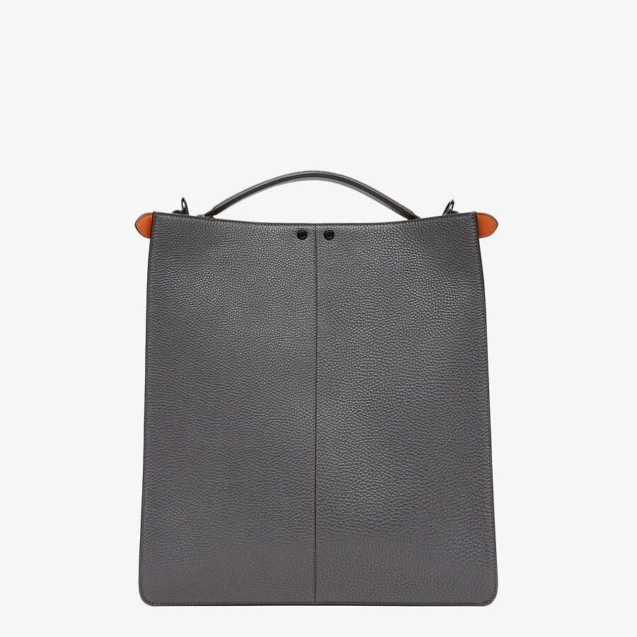 FENDI PEEKABOO ISEEU TOTE - Gray leather bag - view 5 detail