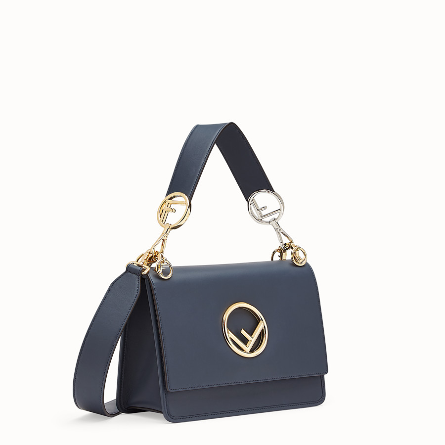 FENDI KAN I F - Blue leather bag - view 2 detail