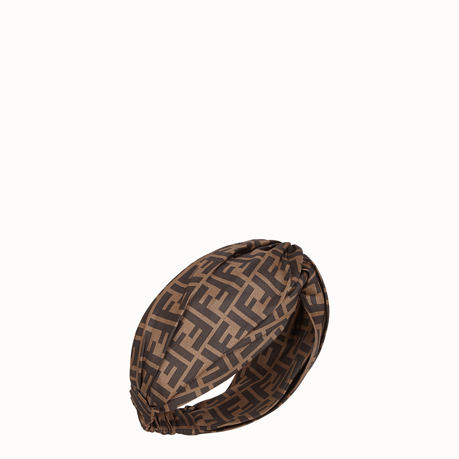 FENDI FF BAND - Brown silk bandeau top - view 1 detail
