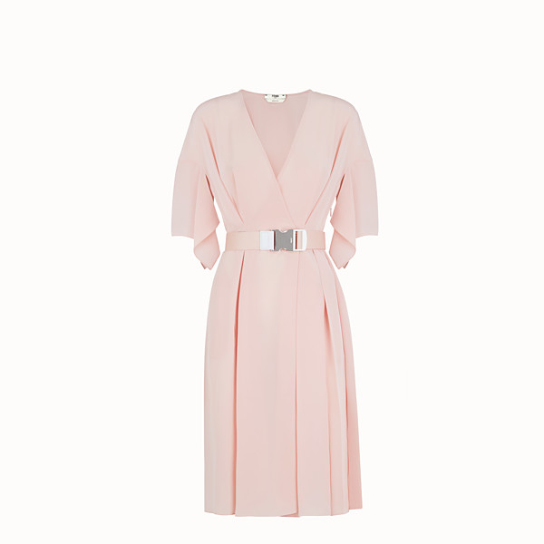 FENDI DRESS - Pink crêpe de Chine dress - view 1 small thumbnail