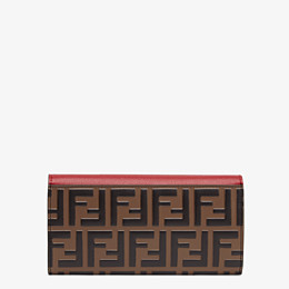 FENDI CONTINENTAL WITH CHAIN - Red leather wallet - view 3 thumbnail