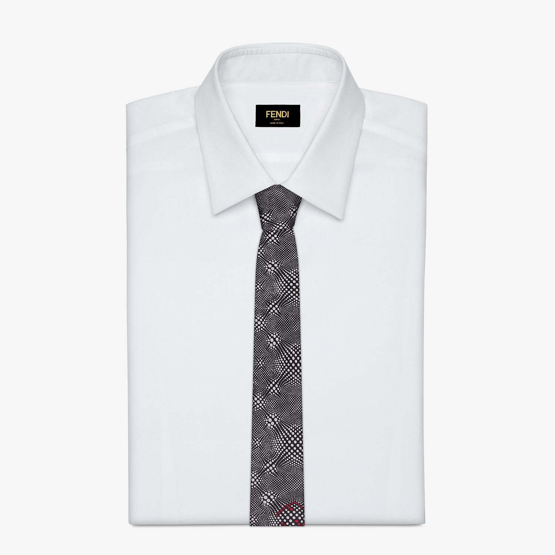 FENDI 領帶 - 黑色真絲領帶 - view 2 detail