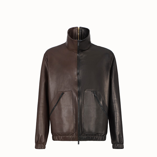 FENDI JACKET - Multicolour leather jacket - view 1 small thumbnail