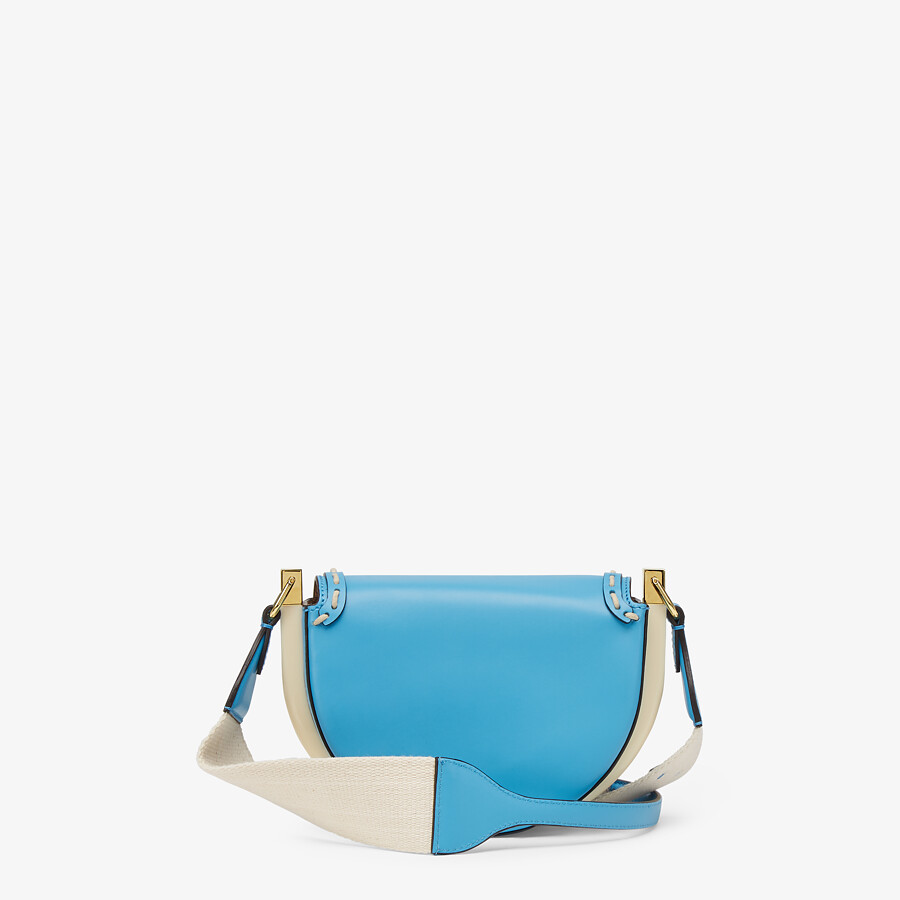 FENDI MOONLIGHT - Blue leather bag - view 4 detail