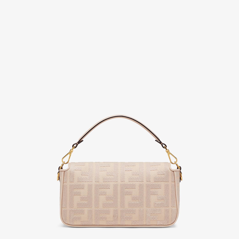 FENDI BAGUETTE - Pink FF canvas bag - view 3 detail