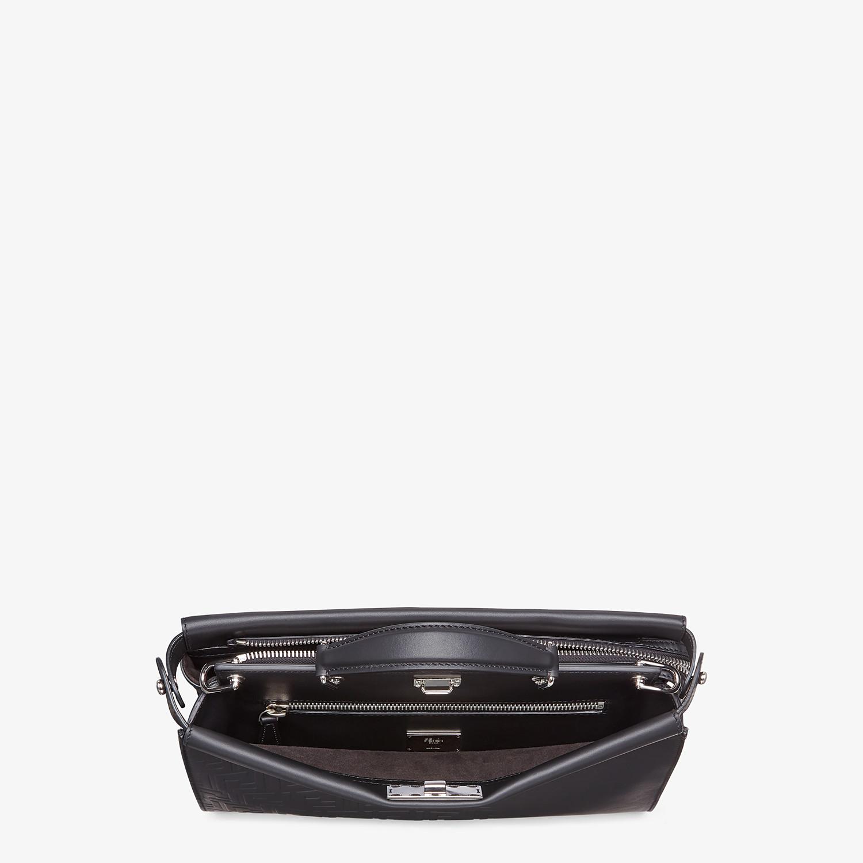 FENDI PEEKABOO ICONIC FIT - Black, calf leather bag - view 4 detail