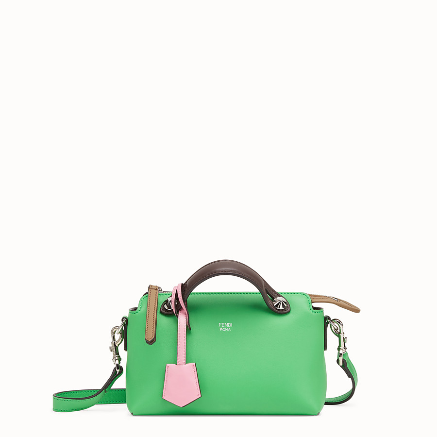 FENDI BY THE WAY MINI - Bauletto piccolo in pelle verde - vista 1 dettaglio