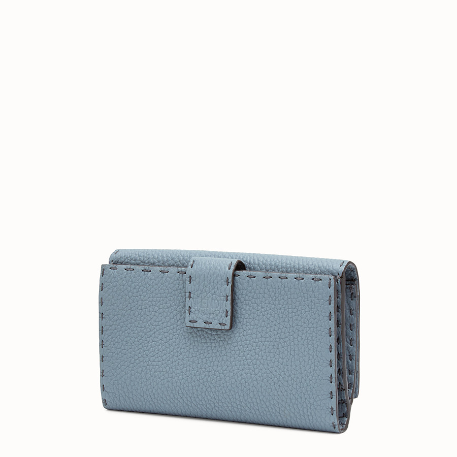 FENDI CONTINENTAL - Pale blue leather wallet - view 2 detail