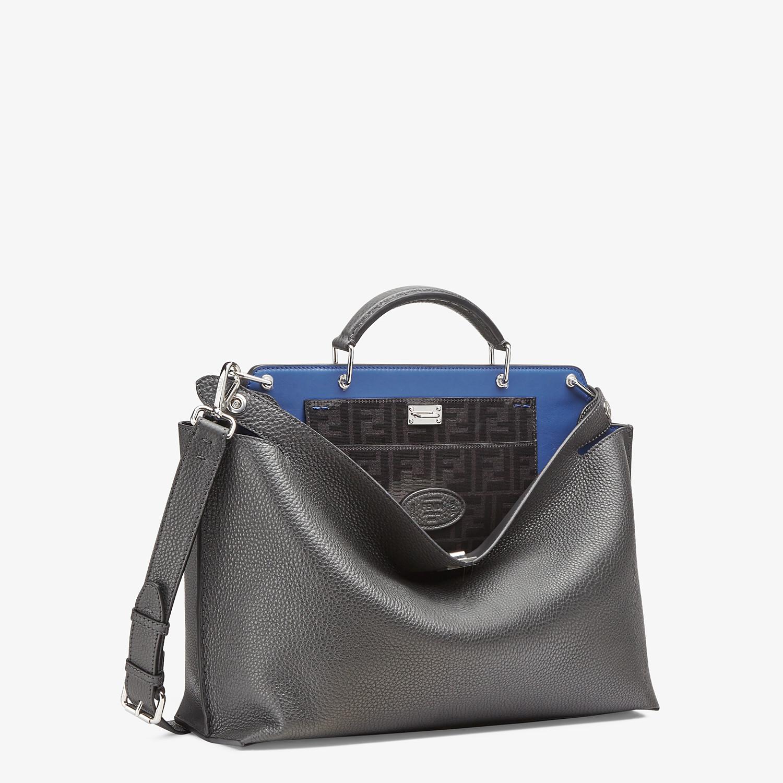 FENDI PEEKABOO ICONIC ESSENTIAL - Gray leather bag - view 2 detail
