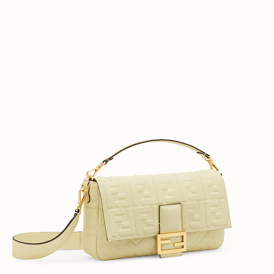 FENDI BAGUETTE LARGE - Yellow leather bag - view 3 detail