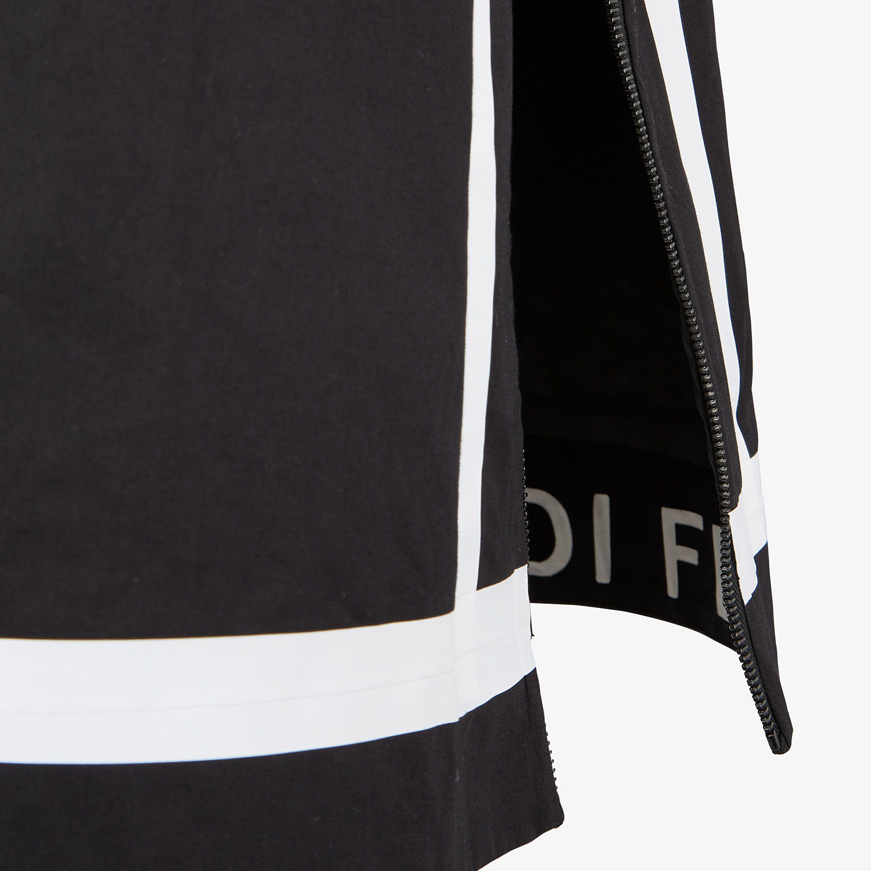 FENDI PARKA - Black tech fabric parka - view 3 detail