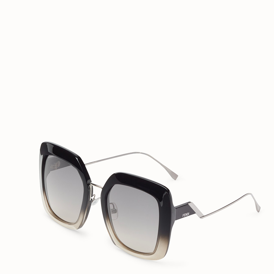 FENDI TROPICAL SHINE - Black and grey sunglasses - view 2 detail