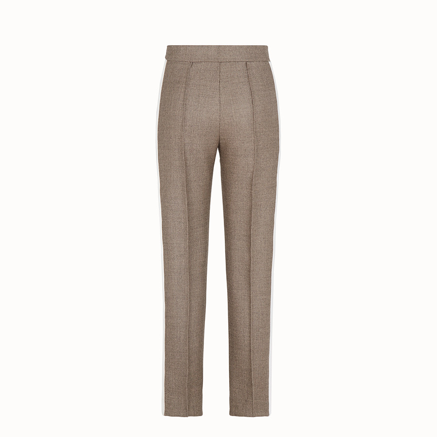 FENDI TROUSERS - Grisaille wool trousers - view 2 detail