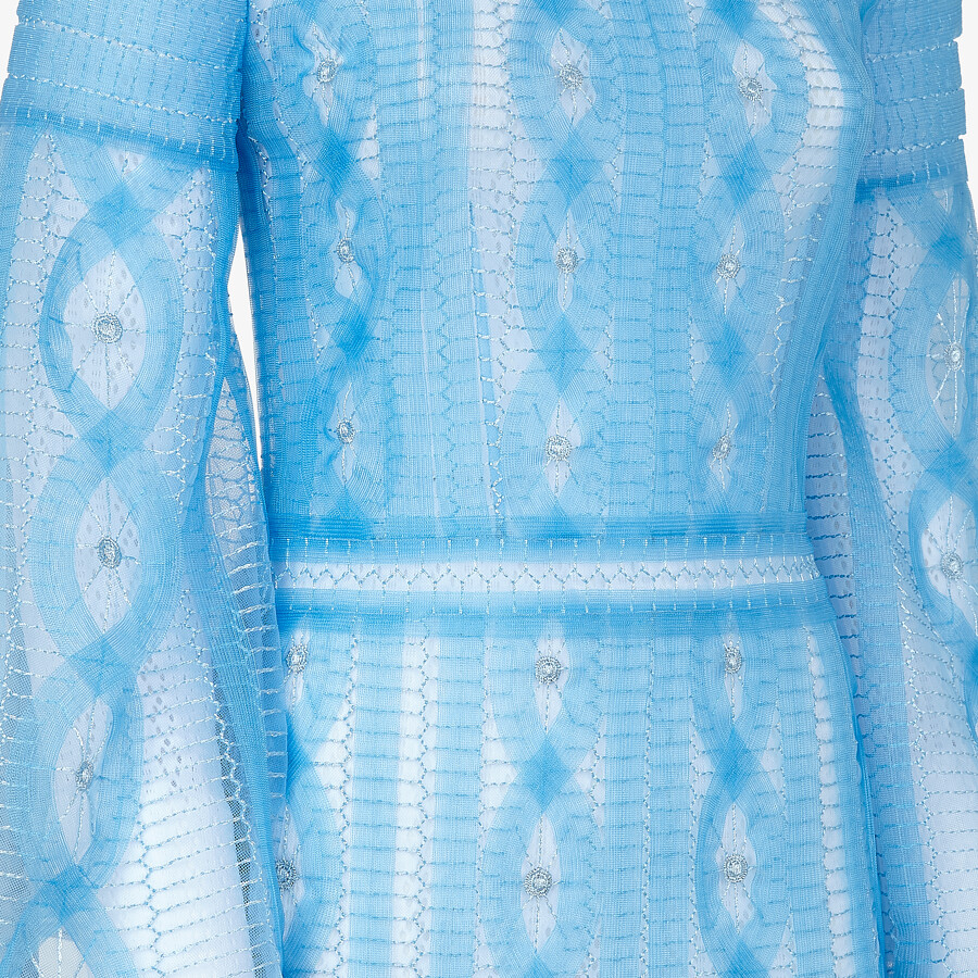 FENDI DRESS - Light blue nylon dress - view 3 detail