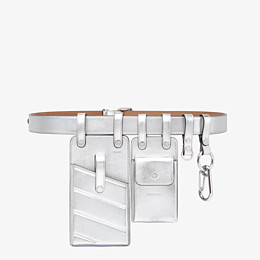 FENDI BELT - Silver leather belt - view 1 thumbnail