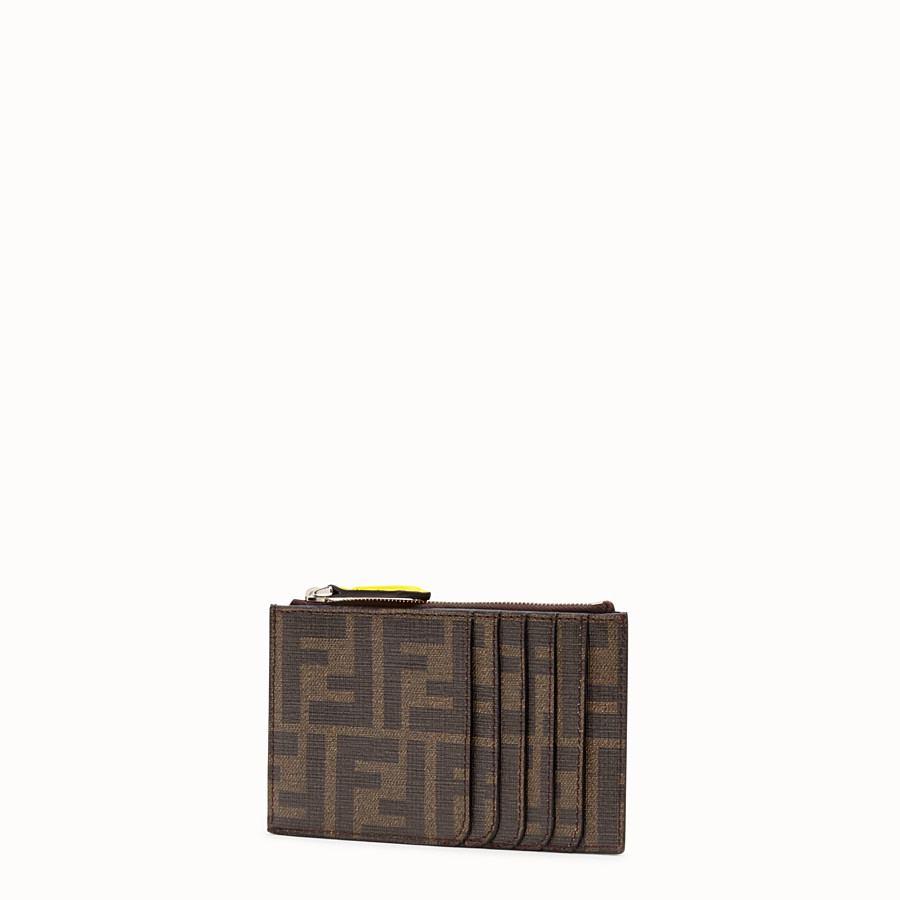 FENDI COIN PURSE - Coin purse in brown fabric - view 2 detail