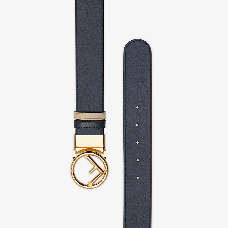 FENDI BELT - Navy blue leather belt - view 2 detail