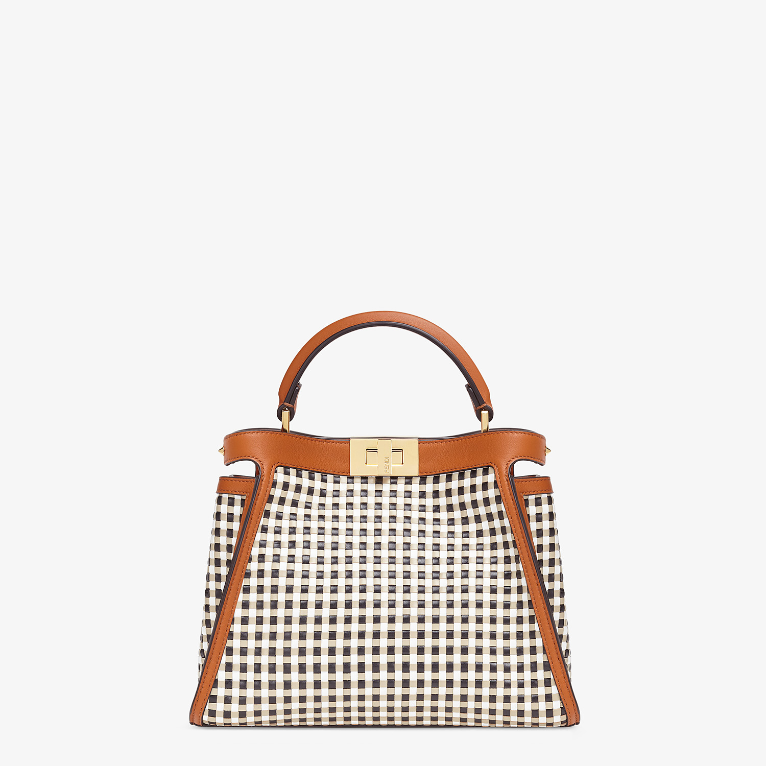 FENDI PEEKABOO ICONIC ESSENTIALLY - Vichy interlace bag - view 1 detail