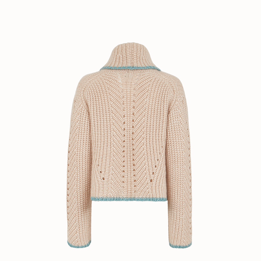 FENDI JUMPER - Beige cashmere jumper - view 2 detail