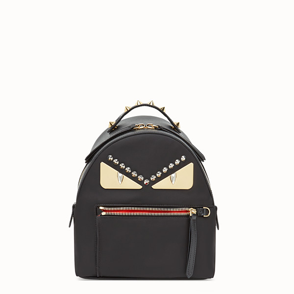 FENDI MINI BACKPACK - Petit sac à dos en nylon et cuir noir - view 1 small thumbnail
