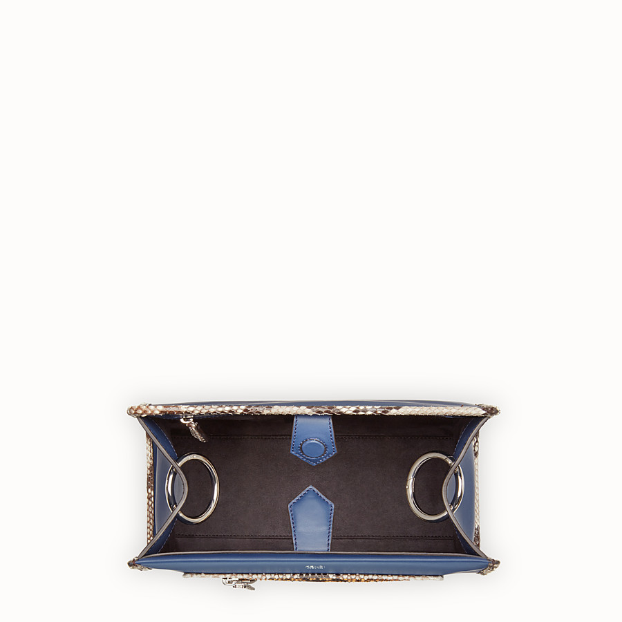 FENDI RUNAWAY SMALL - Exotic blue leather bag - view 4 detail