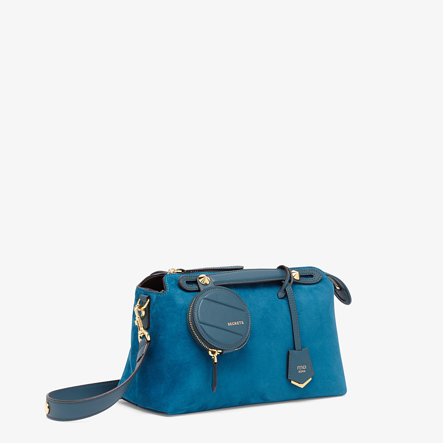 FENDI BY THE WAY MEDIUM - Blue suede Boston bag - view 2 detail