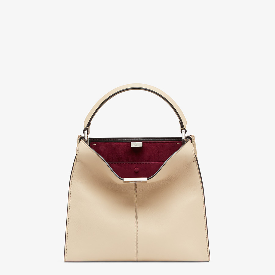 FENDI PEEKABOO X-LITE MEDIUM - Tasche aus Leder in Beige - view 3 detail