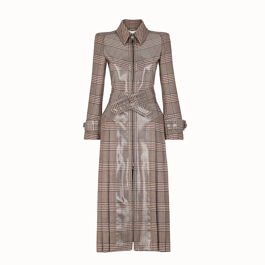 FENDI OVERCOAT - Prince of Wales check wool overcoat - view 1 detail