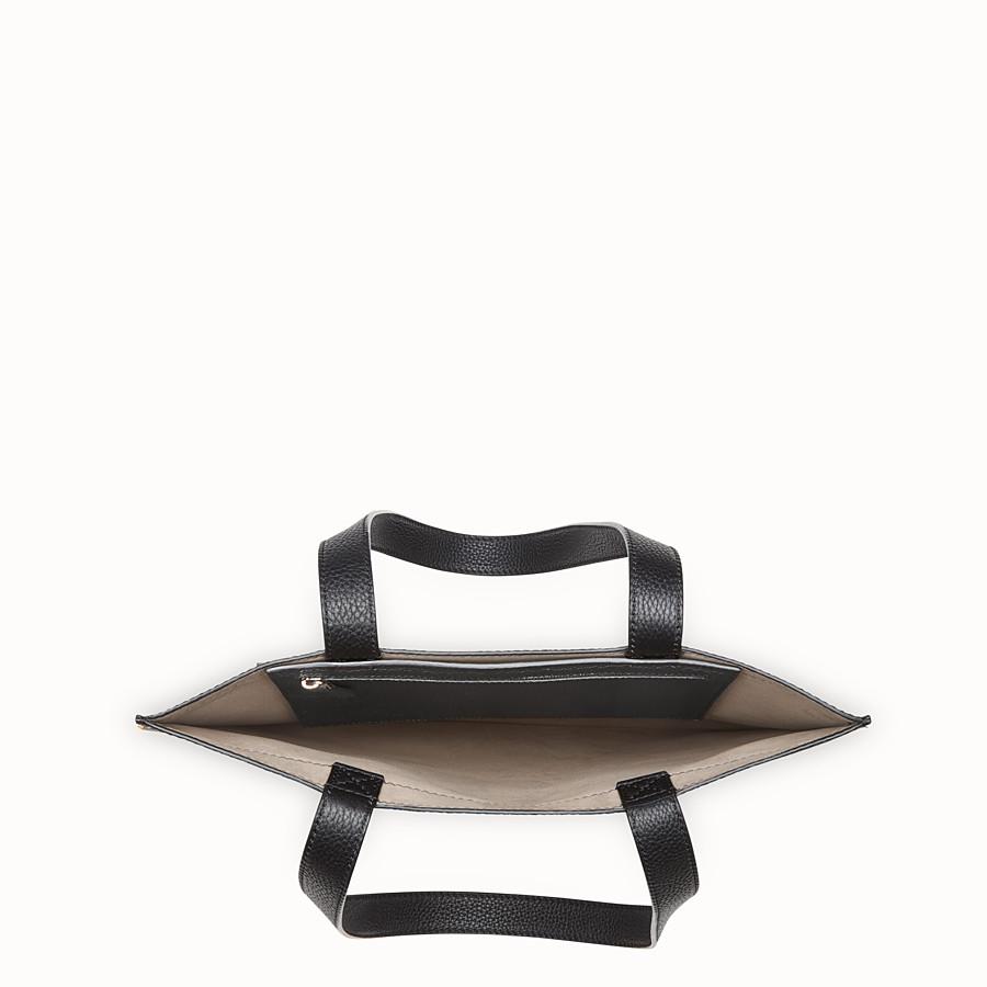 FENDI SHOPPER - Black leather bag - view 4 detail