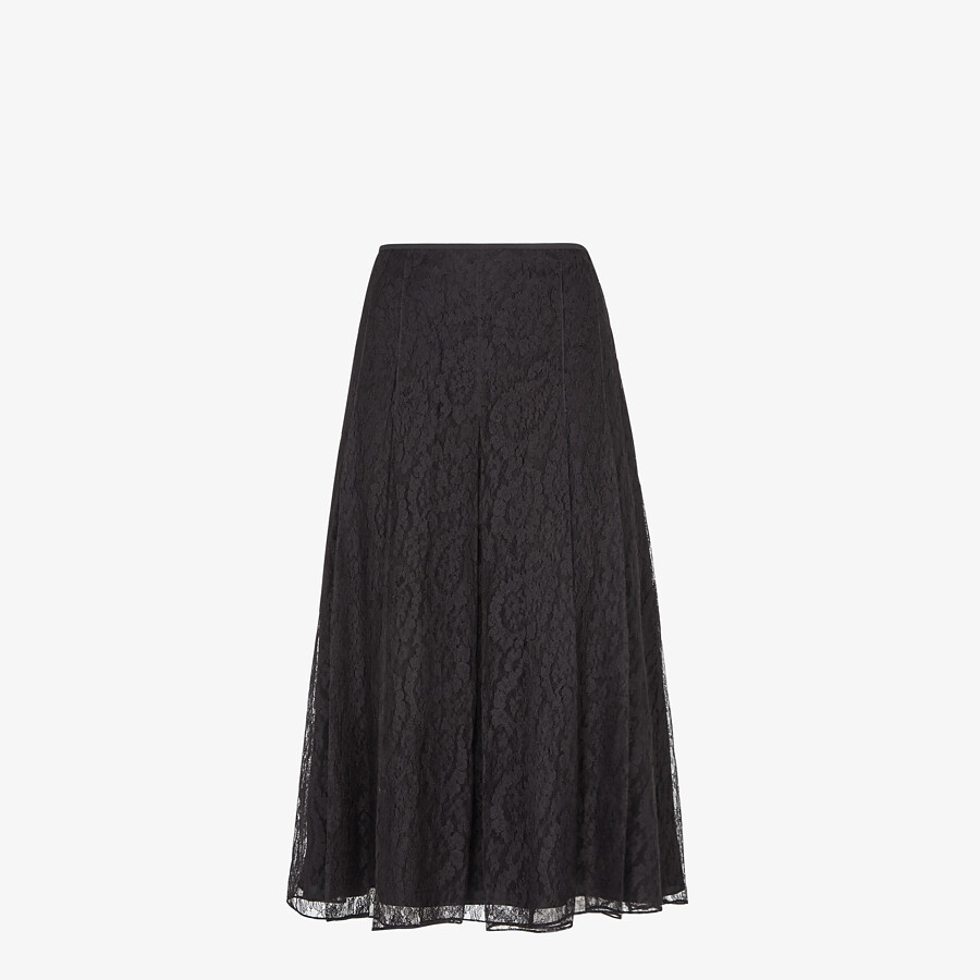 FENDI SKIRT - Black lace skirt - view 1 detail