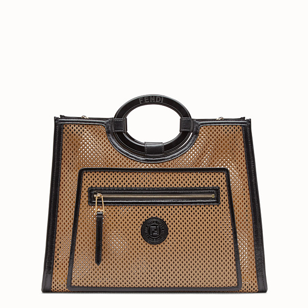 FENDI RUNAWAY SHOPPER - Beige leather shopper bag - view 1 small thumbnail