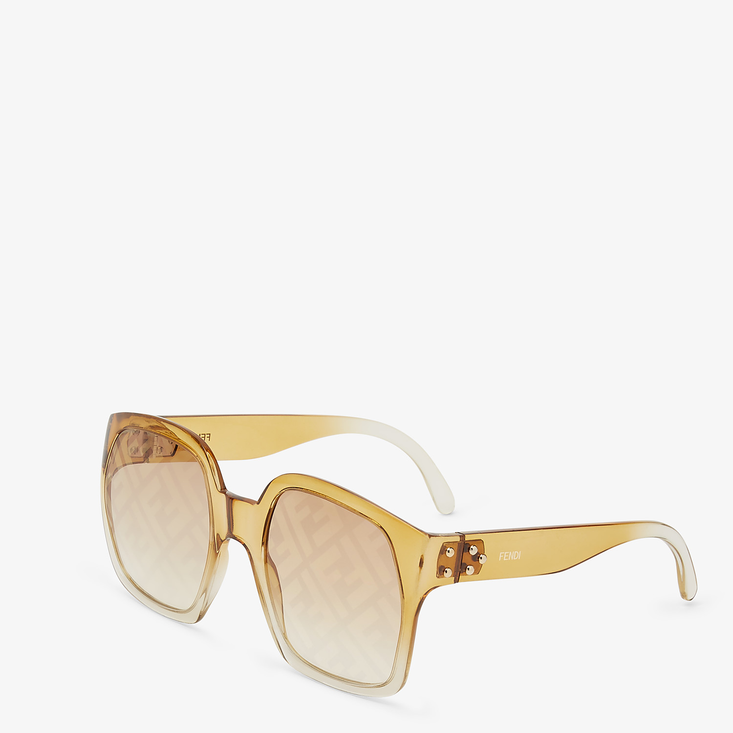 FENDI FENDI DAWN - Gradient effect injection-moulded sunglasses with FF logo - view 2 detail