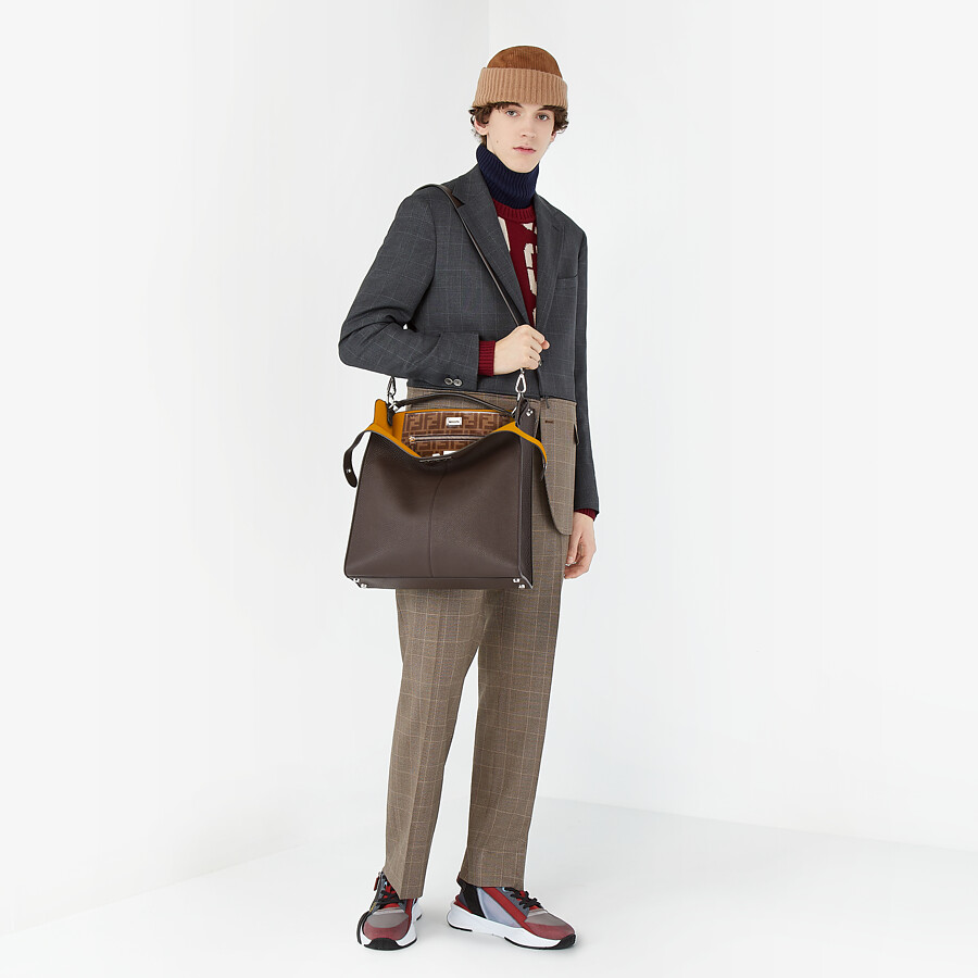 FENDI JACKET - Multicolour Prince of Wales check blazer - view 7 detail