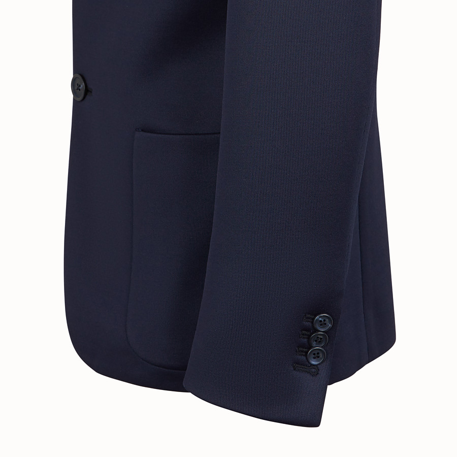 FENDI JACKET - Blue scuba blazer - view 4 detail