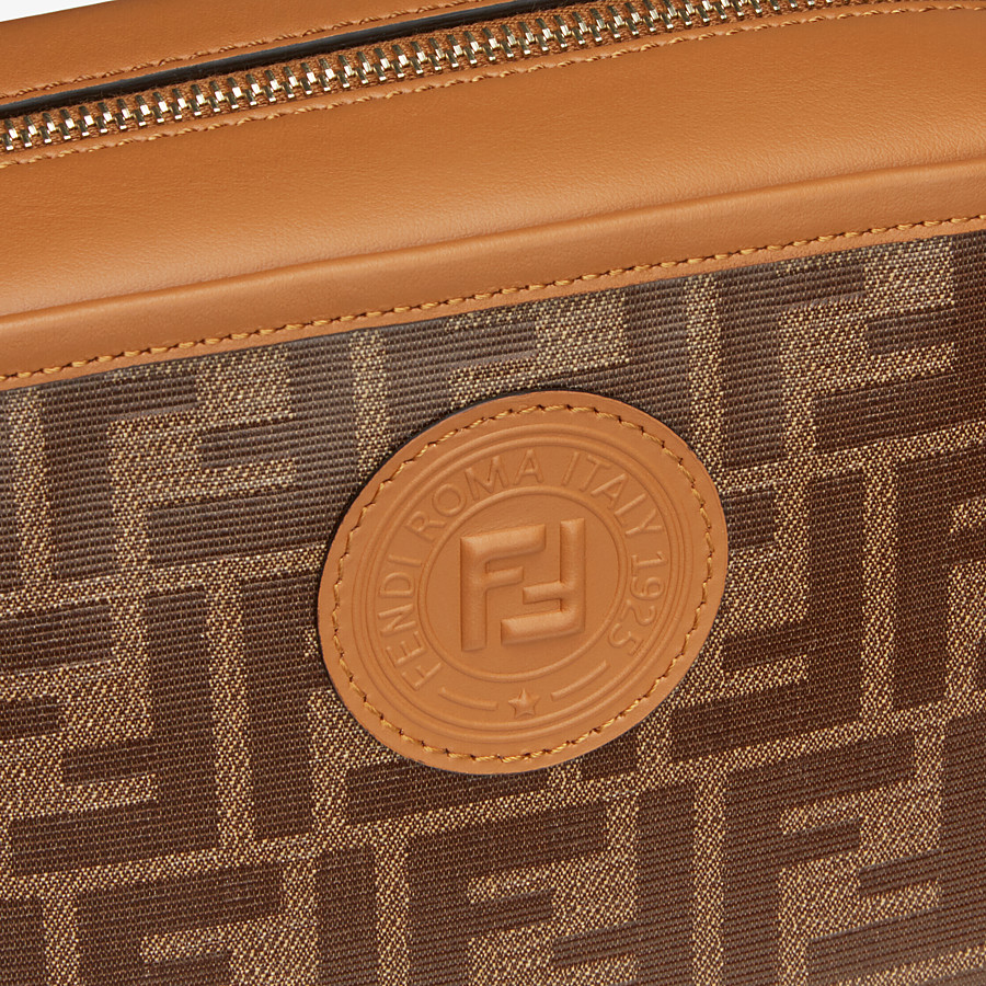 FENDI CAMERA CASE - Brown fabric bag - view 5 detail