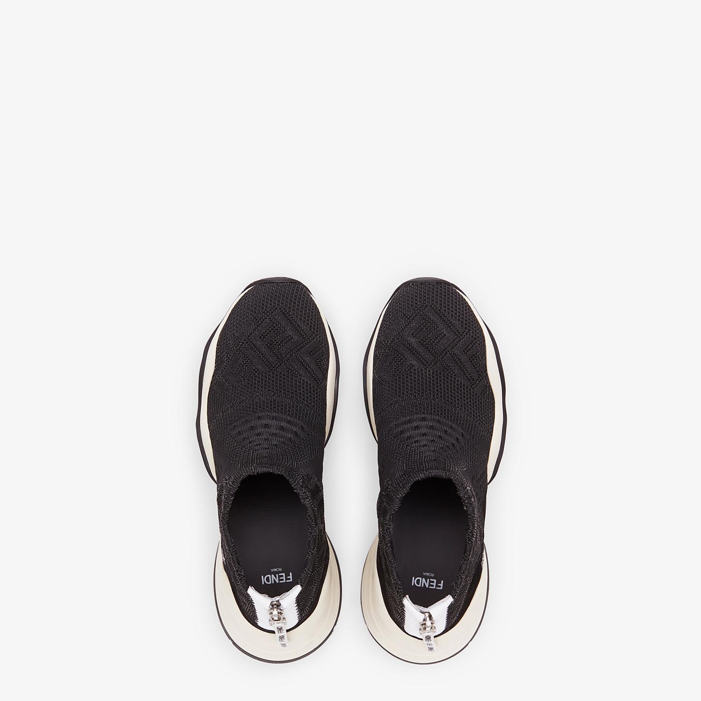 FENDI SNEAKERS - High-tech black jacquard sneakers - view 4 detail