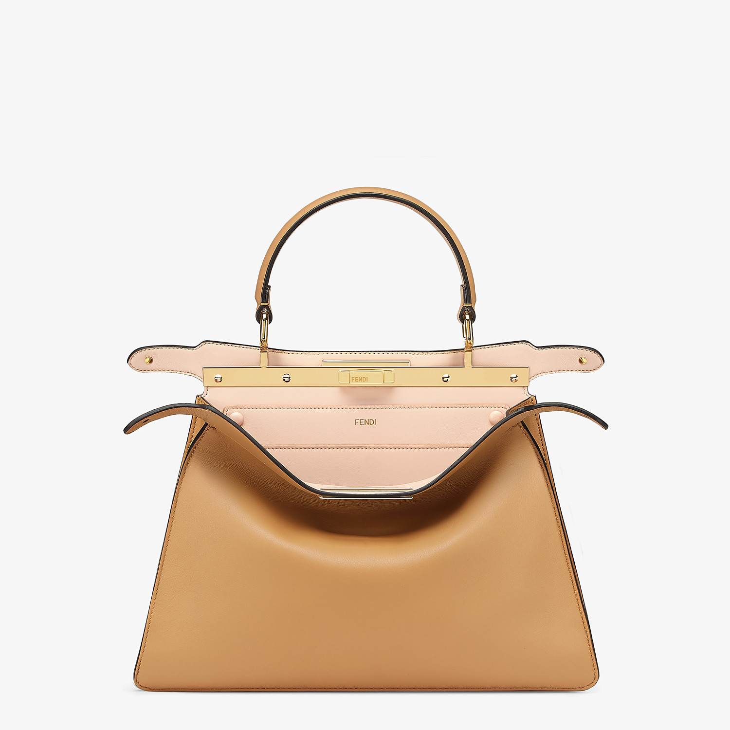 FENDI PEEKABOO ISEEU MEDIUM - Beige leather bag - view 3 detail